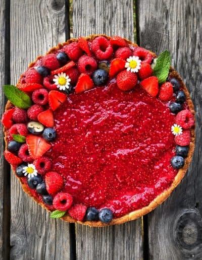 Gâteaux colorés et fleuris
